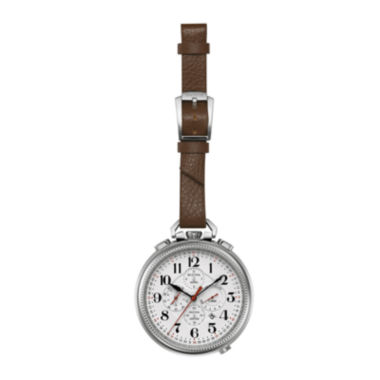 jcpenney.com | Bulova® Mens Brown Leather Strap UHF Pocket Watch 96B249