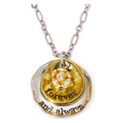 Messages from the Heart® by Sandra Magsamen® Always Two-Tone Medallion Pendant Necklace
