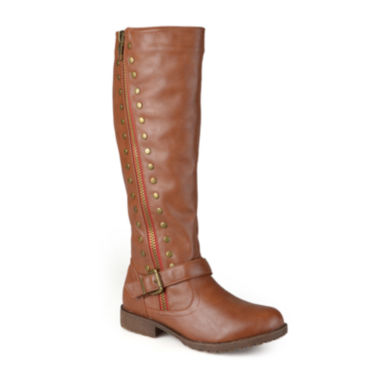 jcpenney.com | Journee Collection Tilt Knee-High Riding Boots - Wide Calf