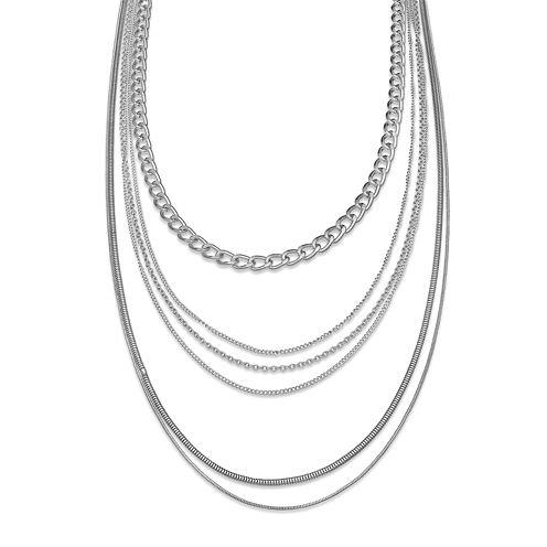 Silver Multi-Layer Necklace