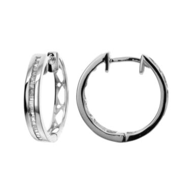 jcpenney.com | LIMITED QUANTITIES 1/4 CT. T.W. Diamond Hoop Earrings