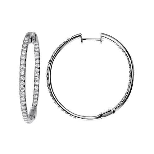LIMITED QUANTITIES 1½ CT. T.W. Diamond Hoop Earrings