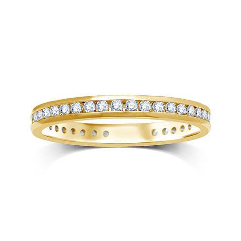 1/2 CT. T.W. Diamond 14K Yellow Gold Eternity Wedding Band