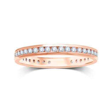 jcpenney.com | 1/2 CT. T.W. Diamond 14K Rose Gold Eternity Wedding Band