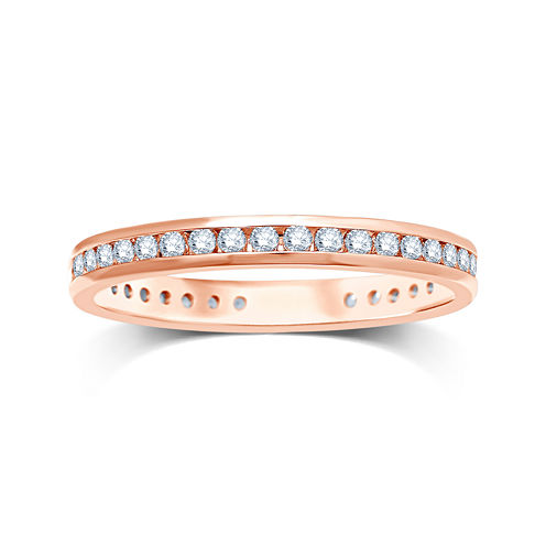 1/2 CT. T.W. Diamond 14K Rose Gold Eternity Wedding Band