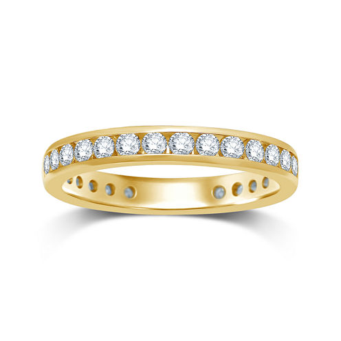 1 CT. T.W. Diamond 14K Yellow Gold Eternity Wedding Band