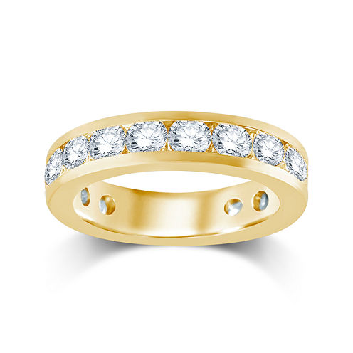 3 CT. T.W. Diamond 14K Yellow Gold Eternity Wedding Band