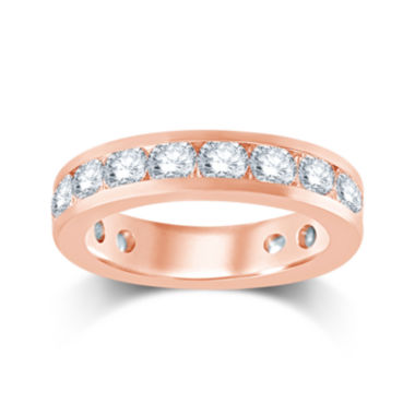 jcpenney.com | 3 CT. T.W. Diamond 14K Rose Gold Eternity Wedding Band