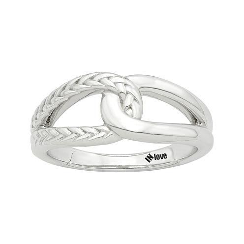 IN Love 14K White Gold Infinity Ring