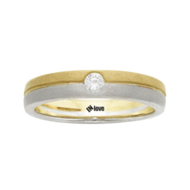 jcpenney.com | IN Love 1/10 CT. T.W. Diamond 14K Two-Tone Gold Wedding Band