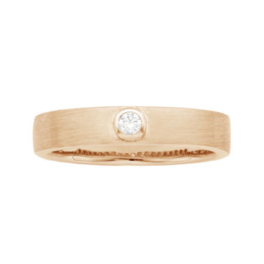 jcpenney.com | IN Love 1/10 CT. T.W. Diamond 14K Rose Gold Wedding Band