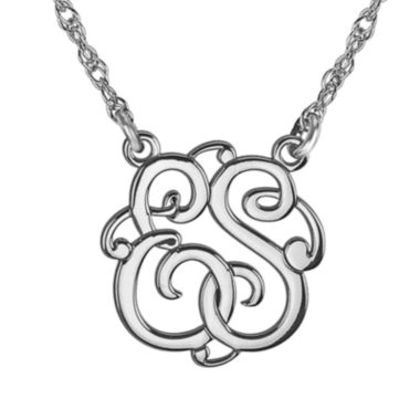 jcpenney.com | Personalized 15mm Round Cutout Monogram Necklace