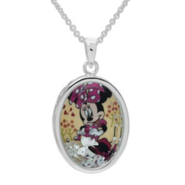 jcpenney.com | Disney Minnie Mouse Girls Oval Shaker Pendant Necklace