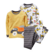 Carter's® 4-pc. Dump Truck Pajama Set - Toddler Boys 2t-5t