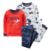 Carter's® 4-pc. Airplane Pajamas - Toddler Boys 2t-5t