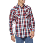 Ely Cattleman® Long-Sleeve Plaid Snap Shirt