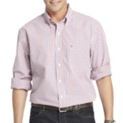 IZOD® Long-Sleeve Tattersall Woven Shirt