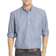 IZOD® Long-Sleeve Striped Woven Shirt