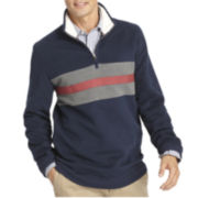 IZOD® Rugby-Striped Quarter-Zip Pullover