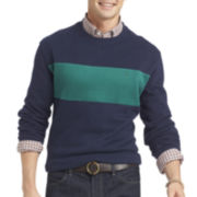 IZOD® Striped Crewneck Fleece Pullover