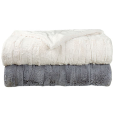 jcpenney.com | Embossed Faux-Fur Throw