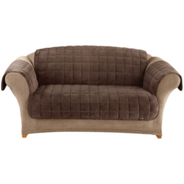 jcpenney.com | SURE FIT® Quilted Velvet Deluxe Loveseat Pet Furniture Cover