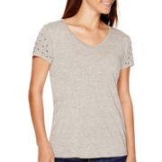 Liz Claiborne® Short-Sleeve Embellished T-Shirt - Tall