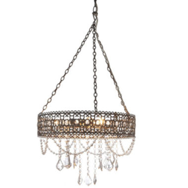 jcpenney.com | Washed Gray Beaded Chandelier