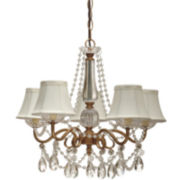 5-Arm Beaded Chandelier with Shades