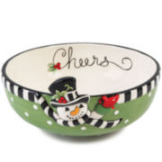 Fitz and Floyd® Frosty's Frolic Snowman Sentiment Bowl