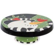 Fitz and Floyd® Frosty's Frolic Snowman Cake Plate/Chip and Dip Server