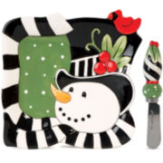 Fitz and Floyd® Frosty's Frolic Snowman Snack Plate