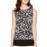 Liz Claiborne® Sleeveless Print Knit Top