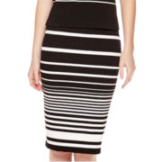 Liz Claiborne® Striped Knit Midi Skirt