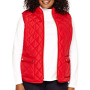 St. John's Bay® Quilted Vest - Plus