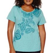 St. John's Bay® Short-Sleeve Graphic T-Shirt - Plus
