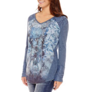 Unity™ Long-Sleeve Mixed Media Sublimation Top - Petite