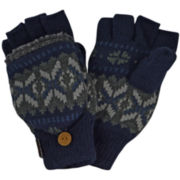 MUK LUKS® Sweater Vest Fingerless Flip Top Gloves