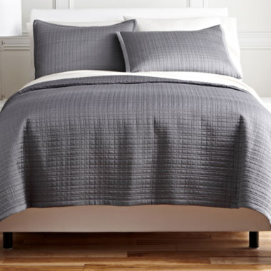 jcpenney.com | Royal Velvet® Matte Satin Square Coverlet Set & Accessories