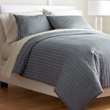 jcpenney.com | Royal Velvet® 400tc Damask Stripe Cotton Comforter Set
