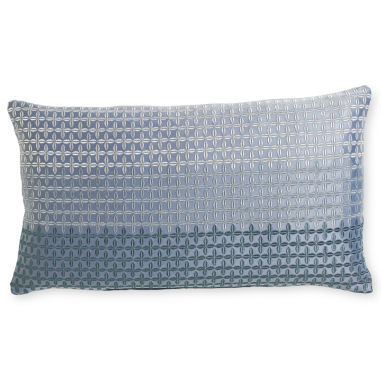 jcpenney.com | Royal Velvet® Lustrous Steel Print Oblong Decorative Pillow