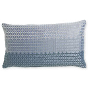 Royal Velvet® Lustrous Steel Print Oblong Decorative Pillow