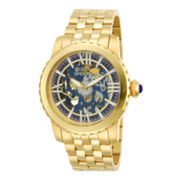 Invicta® Specialty Mechanical Mens 18K Gold-Plated Skeleton Watch