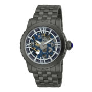 Invicta® Specialty Mechanical Mens Gunmetal Skeleton Watch