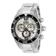 Invicta® Lupah Mens Silver-Tone Chronograph Dive Watch