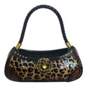 Gold Leopard Print Handbag Ring Holder