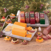 The Swiss Colony® Meat and Cheese Gift Box with Marble Cheese Board and Slicer