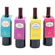 Make a Toast Set of 8 Wine Bottle Gift Tags