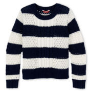 Arizona Mixed-Stitch Striped Sweater - Girls 6-16 and Plus