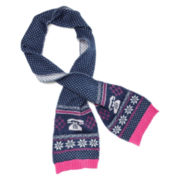 Toby Fair Isle Knit Scarf - Girls